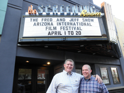 The Screening Room: Fred and Jeff in front of The Screening Room