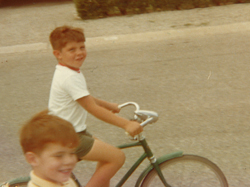 Fred's first bike: You should have seen Jeff running when Fred got his first car!